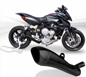 HP Corse - HP CORSE HYDROFORM STEEL SATIN BLACK EXHAUST: MV AGUSTA Rivale 800 - Image 1