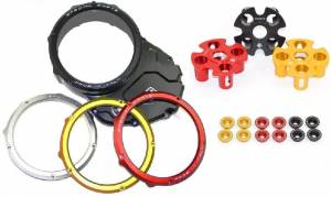 Ducabike Complete Billet Clear Clutch Cover/Pressure Plate Kit: Ducati Diavel 16 + - Image 1