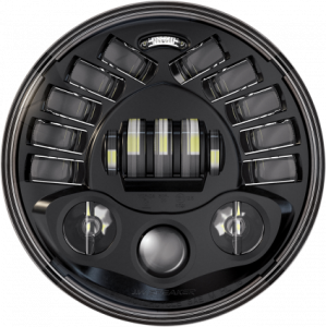 JW Speaker - JW Speaker Adaptive 7 inch LED Headlight BLACK - Image 1