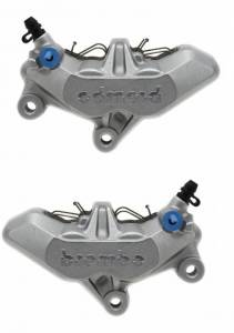 Brembo - BREMBO 4 Pad Axial Caliper Set [65mm Mount]: Silver - Image 1