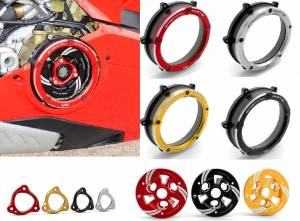 Ducabike - Ducabike Clear Wet Clutch Cover/Pressure Plate & Pressure Plate Ring: Complete Kit For Ducati Panigale V4