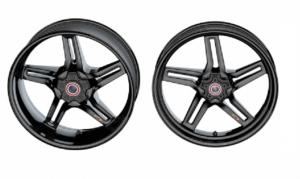 BST Wheels - BST RAPID TEK 5 SPLIT SPOKE WHEEL SET(6 inch rear): Honda CBR 1000 09-16 [Base and SP model] 17+