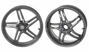 BST Wheels - BST RAPID TEK 5 SPLIT SPOKE WHEEL SET [6 inch rear]: MV Agusta F41000 / Brutale 1078 2010+
