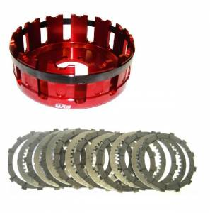 EVR - EVR Ducati 12T Organic Clutch Plates & Clutch Basket Set: 748-998 / 749-999 / MH900e / M900-1000 / S2R / S4R / MTS1000 / SC / ST / SS - Image 1