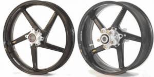"BST Wheels - BST 5 SPOKE CARBON FIBER WHEELS: KTM RC 390 [17 X 2.75"" Front, 17 X 4.5"" Rear] - Image 1"