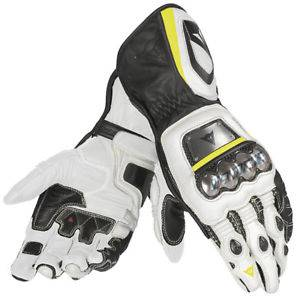 DAINESE Closeout  - DAINESE Full Metal D1 Gloves [Black/White/Fl-Yellow XS] - Image 1
