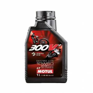 Motul - MOTUL 300V Factory Synthetic 10W50 Oil [1 Liter], The best and latest in lubricant technology to date! - Image 1