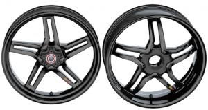 BST Wheels - BST RAPID TEK Carbon Fiber 5 SPLIT SPOKE WHEEL SET: Ducati Diavel / X Diavel