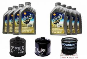 Shell - Shell Advance 4T Ultra Synthetic Oil Change Kit: Most Ducati - Image 1