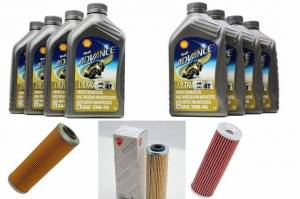 Shell - Ducati Oil Change Kit: Shell Advance 4T Ultra 10W-40 or 15W-50 Synthetic Oil & Choice of Oil Filter [PANIGALE series Only] - Image 1