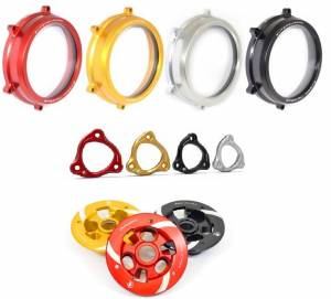 Ducabike - Ducabike Clear Wet Clutch Cover, Pressure Plate & Pressure plate Ring Combo: Ducati Panigale 1199/1299/959 - Image 1