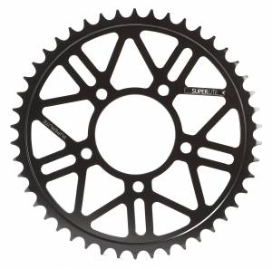 SUPERLITE - SUPERLITE RS8-R 525 Pitch Black Hard Anodized Alloy Rear Sprocket:  BST / Marchesini / OZ Motorbike / Rotobox Wheels - Image 1