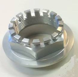 Motowheels - MW Billet 6 Pt. Wheel Nut: 748-998, 848, SF848, MTS1000-1100, S2R-S4RS, M796-1100, Mhe, Hyperstrada/Hypermotard 821 [Silver Anodized] - Image 1