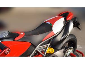 Ducabike - Ducabike COMFORT SEAT COVER: Ducati Hypermotard 950 [Blk/Red] - Image 1
