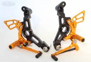 Sato Racing - Sato Racing Adjustable Billet Rearsets: Ducati Monster 1200/1200S 16+ - Image 1