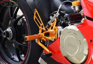 Sato Racing - Sato Racing Adjustable Billet Rearsets: Ducati Panigale V4/ S / R / Speciale