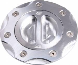 Oberon - Oberon Billet Aluminum Fuel Cap: 848 / 1098 / 1198 / 748 / 916 / 996 / 998 / Monster / ST / MV Agusta [Raw Clear Anodize] - Image 1