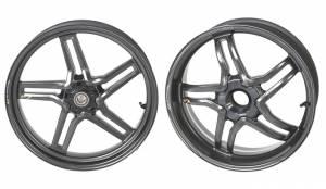 BST Wheels - BST RAPID TEK 5 SPLIT SPOKE WHEEL SET [5.5 inch rear Wheel] Ducati 1098/1198 /SF 1098/ MTS 1200/  M1200 / Supersport 17+