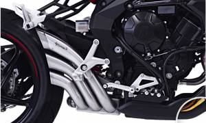 HP Corse - HP CORSE HYDROTRE SATIN SLIP-ON EXHAUST WITH STAINLESS COVER: MV AGUSTA Rivale 800 - Image 1