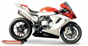 "HP Corse - HP CORSE EVOXTREME 310 SATIN ""High"" - SLIP-ON EXHAUST SYSTEM: MV AGUSTA F3 675 / 800 - Image 1"