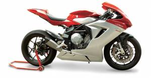 "HP Corse - HP CORSE EVOXTREME 310 SATIN ""LOW"" - SLIP-ON EXHAUST SYSTEM: MV AGUSTA F3 675 / 800 - Image 1"