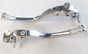 TWM - TWM BILLET Adjustable Brake & Clutch Folding Lever Set: Ducati brembo Radial Master Cylinders: [RARE SILVER] Very Last Pair - Image 1
