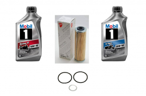 Mobil 1 - Ducati Oil Change Kit: Mobil 1 10W-40 or 20W-50 Synthetic Oil & Choice of Oil Filter [PANIGALE series Only] - Image 1