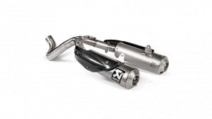 Akrapovic - Akrapovic Exhaust Ducati Scrambler 1100 with Optional Linkage Pipe 2018-2019 - Image 1