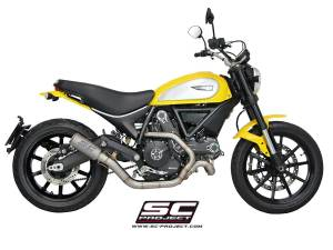 SC Project - SC Project CR-T Carbon or Titanium [Stainless Steel Headers] Full Exhaust System: Ducati Scrambler - Image 1