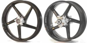 "BST Wheels - BST 5 Spoke Wheel Set: Aprilia RSV R  05-09 / RSV Factory 04-09 [6.0"" Rear]  ""With Radial Calipers"" - Image 1"