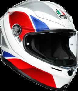 AGV - AGV K-6 Helmet: Hyphen White/Red/Blue - Image 1
