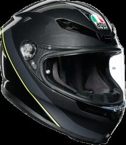 AGV - AGV K-6 Helmet: Minimal Gunmetal/Black/Yellow - Image 1