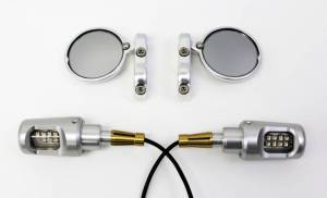 Oberon - OBERON Bar End Turn Signals Kit: Ducati 899/959/1199/1299 Panigale [Mirrors are sold seperately] Turn signals are only available in Silver - Image 1