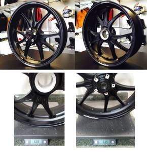 "Marchesini - Marchesini ""Ultra Rare M9RS Superleggera"" Forged Magnesium Wheels: Panigale 1199-1299-V4/S/R [Matte Black] - Image 1"