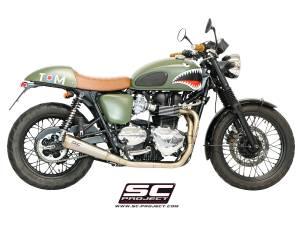 """SC Project - SC Project Conic """"70's Style"""" Exhaust: Triumph Bonneville, T100 - Image 1"""