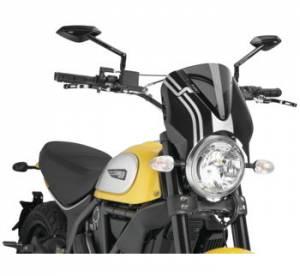 Puig - Puig Naked Bike Sport Windscreen: Ducati Scrambler - Image 1