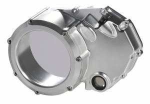 STM - STM Clear Wet Clutch Cover: Ducati Monster 620-696-750-1100-1200, Sport Classic, Hypermotard 796, ST3, 848/SF - Image 1