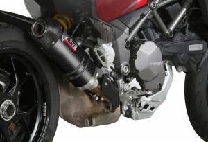 Mivv Exhaust - Mivv Oval Carbon Slip-On Exhaust Multistrada 1200-1260 '15-'19 - Image 1