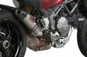 Mivv Exhaust - Mivv Oval Titanium with Carbon Cap Slip-On Exhaust Multistrada 1200-1260 '15-'19 - Image 1