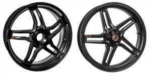 BST Wheels - BST RAPID TEK Carbon Fiber 5 SPLIT SPOKE WHEEL SET: Ducati Diavel/X - Image 1