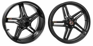 "BST Wheels - BST Rapid Tek Carbon Fiber 5 Split Spoke Wheel Set [6.0"" Rear]: BMW S1000RR '20+ - Image 1"