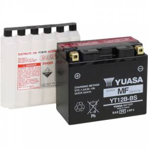 Yuasa  - Yuasa OEM Replacement Battery: YT12B-BS [Not Filled] - Image 1
