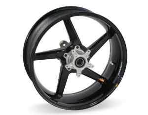 "BST Wheels - BST Diamond TEK Carbon Fiber 5 Spoke Rear Wheel [6"" Rear]: Ducati 851-888, Monster 620-750-900, 900SS-1000SSie - Image 1"
