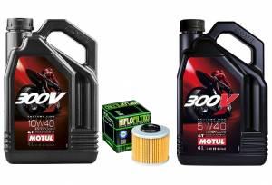 Motul - Motul 300V 5W-40 or 10W-40 Oil Change Kit: MV Agusta F3, Brutale 675-800, Turismo Veloce, Stradale, Rivale - Image 1