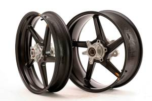 "BST Wheels - BST Diamond TEK Carbon Fiber 5 Spoke Wheel Set: Ducati Desmosedici RR [6.25"" Rear] - Image 1"