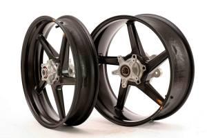 """BST Wheels - BST Diamond TEK Carbon Fiber 5 Spoke Wheel Set: Ducati 749-999 [5.75"""" Rear] - Image 1"""