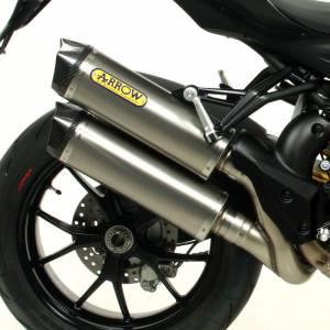 Mivv Exhaust - Arrow Race-Tech Slip-On Exhaust: Ducati Streetfighter 848-1098 - Image 1