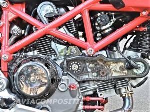 Aviacompositi - Aviacompositi Carbon Fiber / Clear Polycarbonate Timing Belt Covers: Ducati GT1000, Sport Classic, Hypermotard 1100, Scrambler 1100, Monster 1000 - Image 1
