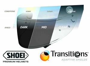 Shoei - Shoei CWR-1 Transitions Photochromic Pinlock Shield: RF-1200, RF-SR and X-14 Helmets - Image 1