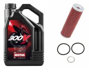 Motul - Motul 300V Factory Line Road Racing Synthetic 15W50 Oil Change Kit: Ducati Panigale Series - Image 1